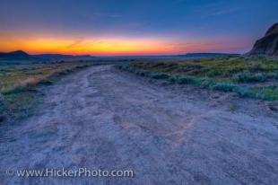 photo of Prairie Landscape Big Muddy Badlands Dusk Southern Saskatchewan