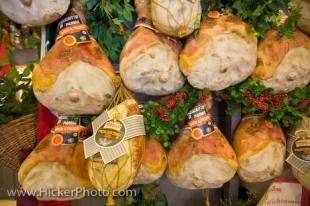 photo of Prosciutto Hams Central Markets Florence Italy