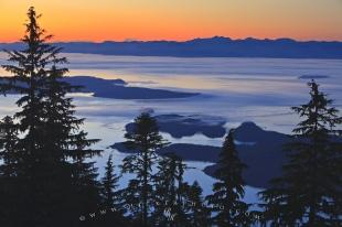 photo of Queen Charlotte Strait Sunset Northern Vancouver Island