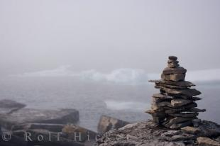 photo of Rock Inukshuk Labrador Coastal Drive