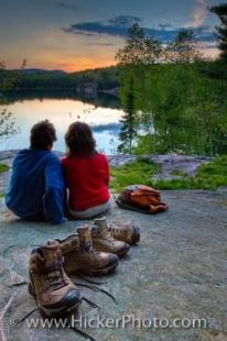 photo of Romantic Sunset Wilderness Lake Picture