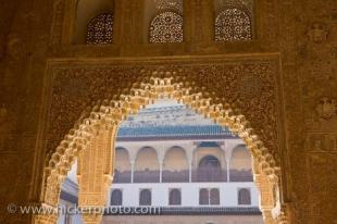 photo of Details Archway Spandrels Hall Boat Royal House Alhambra Granada Andalusia Spain