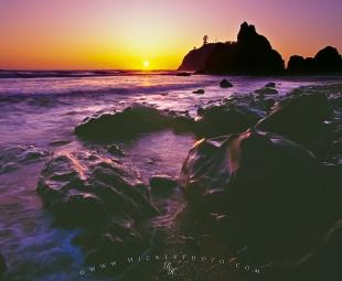 photo of Ruby Beach Sunset Olympic Peninsula