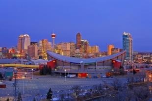 photo of Saddledome Sunrise Picture City Of Calgary Alberta