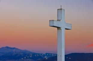 photo of Santa Catalina Cross Sunset Province Of Jaen Andalusia