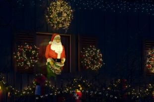 photo of Santa Claus Display Christmas Lights