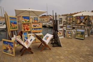 photo of Scenic Landscape Art St Tropez Harbour Provence France