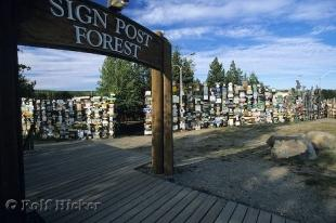 photo of Sign Post Forest Watson Lake Yukon