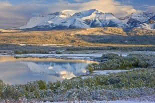photo of Waterton Snow Landscape Scene Picture