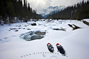 photo of Winter Activity Snowshoeing Rocky Mountains