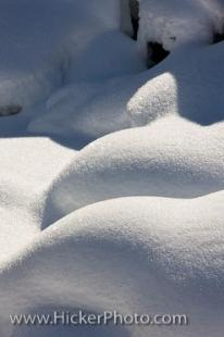 photo of Soft Snow Mounds Austria Winter Sunlight