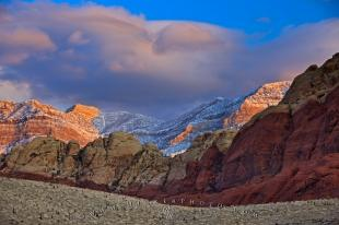 photo of Fresh Snow Spring Mountains Red Rock Canyon