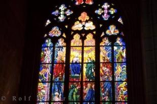 photo of Stained Glass Church Window