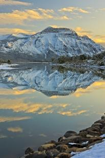 photo of Sunset Winter Landscape Reflections