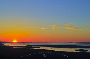 photo of Scenic Aerial Sunset Vancouver Island