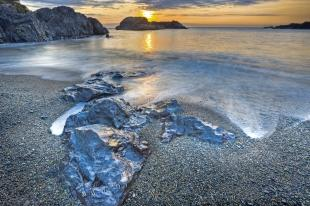 photo of Surreal Coastal Sunset Picture West Coast Vancouver Island