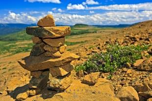 photo of Tablelands Inukshuk Gros Morne