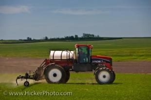 photo of Spraying Crops Tractor Farming Rockglen Saskatchewan