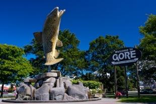 photo of Trout Fishing Statue Gore