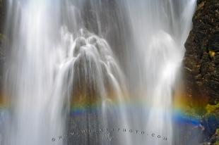 photo of Cascading Waterfall Rainbow Vall D Aran