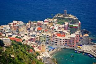 photo of Vernazza Village Aerial Cinque Terre Liguria