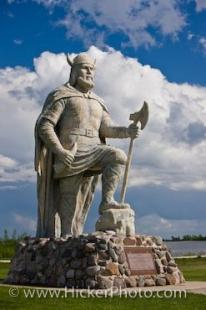 photo of Noble Viking Statue Town Of Gimli Manitoba Canada