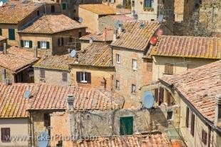 photo of City Of Volterra Rooftops Pisa Province Tuscany Italy