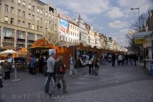 photo of Wenceslas Square Market Stalls Downtown Prague