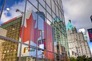 photo of Window Reflections Downtown Vancouver