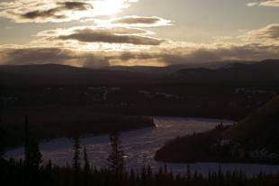 photo of Yukon River Winter Sunset Canada