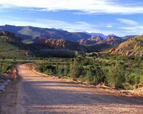 Photo:  Desert Road Grootswart Mountains Africa Pictures