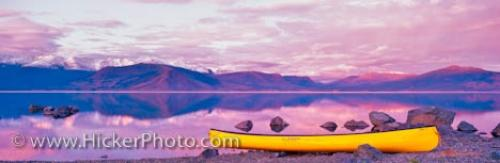 Canoe Kluane Lake Panorama Landscape Photography