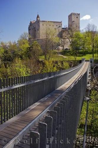 Bruneck Castle Bridge South Tyrol Italy