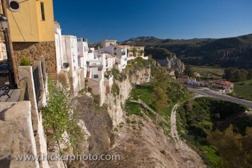 Cliff Dwelling Town Of Sorbas Almeria Andalusia Spain