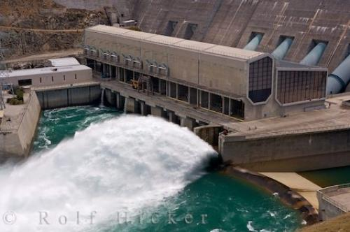 Clyde New Zealand  city photos gallery : Photo of Clyde Dam in Central Otago on the South Island of New Zealand ...