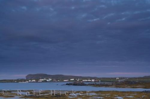 Dark Sunset Clouds L Anse Aux Meadows Newfoundland