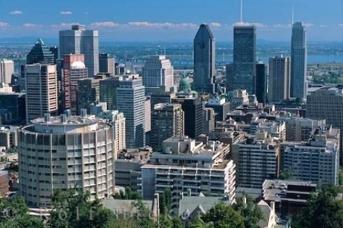 Path: Stock Photos: Quebec Pictures: Downtown Montreal City Quebec Canada
