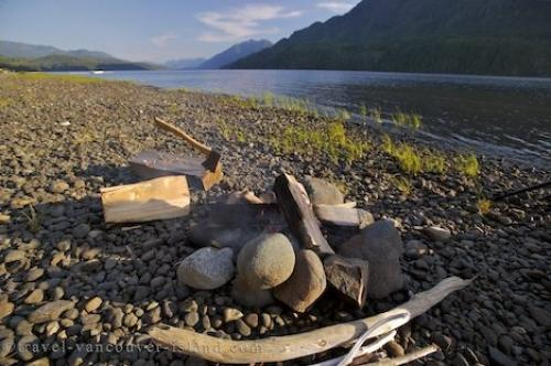 Photo:  Lake Nimpkish Camping