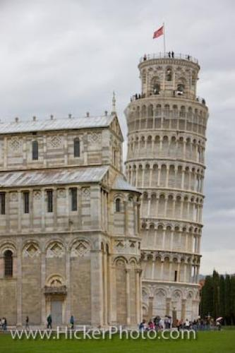 Famous Leaning Tower Of Pisa Italy Europe