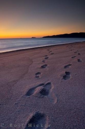 Footprints Sand Lake Superior Ontario At Sunset | Photo ...
