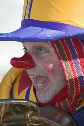 Photo:  Funny Picture Clown Face Red Nose