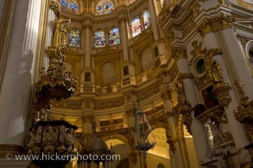 Photo:  Granada Cathedral Stained Glass Granada City Spain