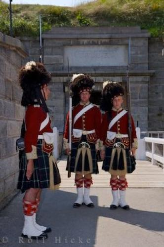 Guard Changing Halifax Citadel National Historic Site Nova Scotia
