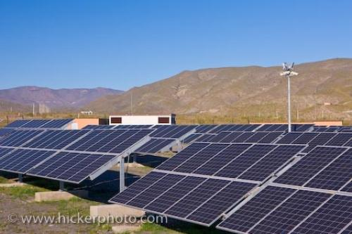 Photo:  Heliostats Tabernas Field Andalusia Spain