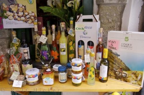 Picture of Italian Products Display Vernazza Liguria Italy