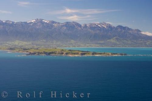 Kaikoura Peninsula Aerial Picture South Island NZ