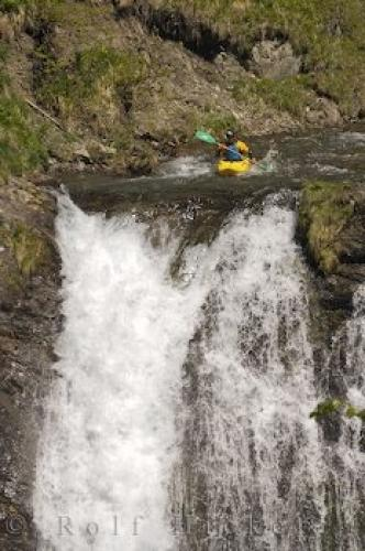 Kayak Waterfall Paddling