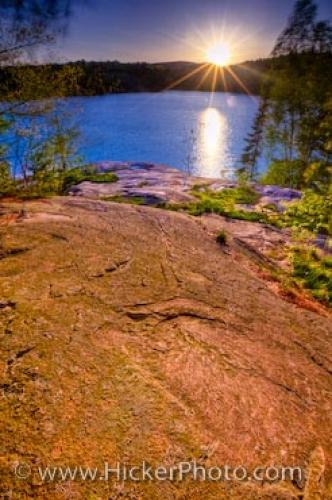 Killarney Provincial Park Sunset George Lake Ontario Canada