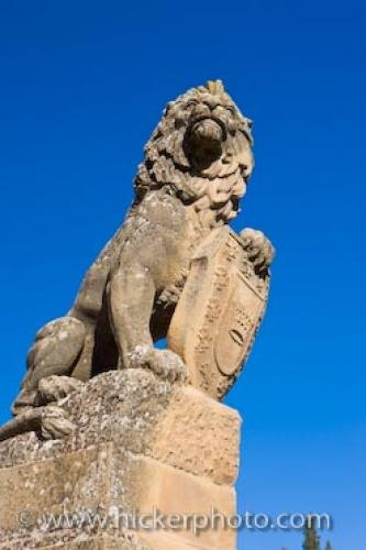 Photo:  Lion Statue Ubeda Town Andalusia Spain