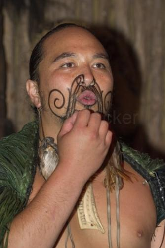 Stock photo path: Photos: New Zealand Pictures: Maori Tattoo